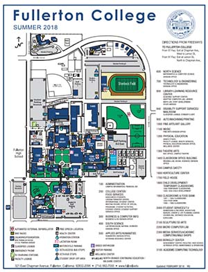 Fullerton College Map Visit Fullerton College | Fullerton College Fullerton College Map