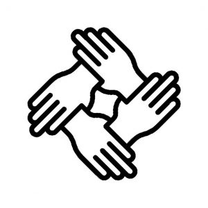 Helping hands icon