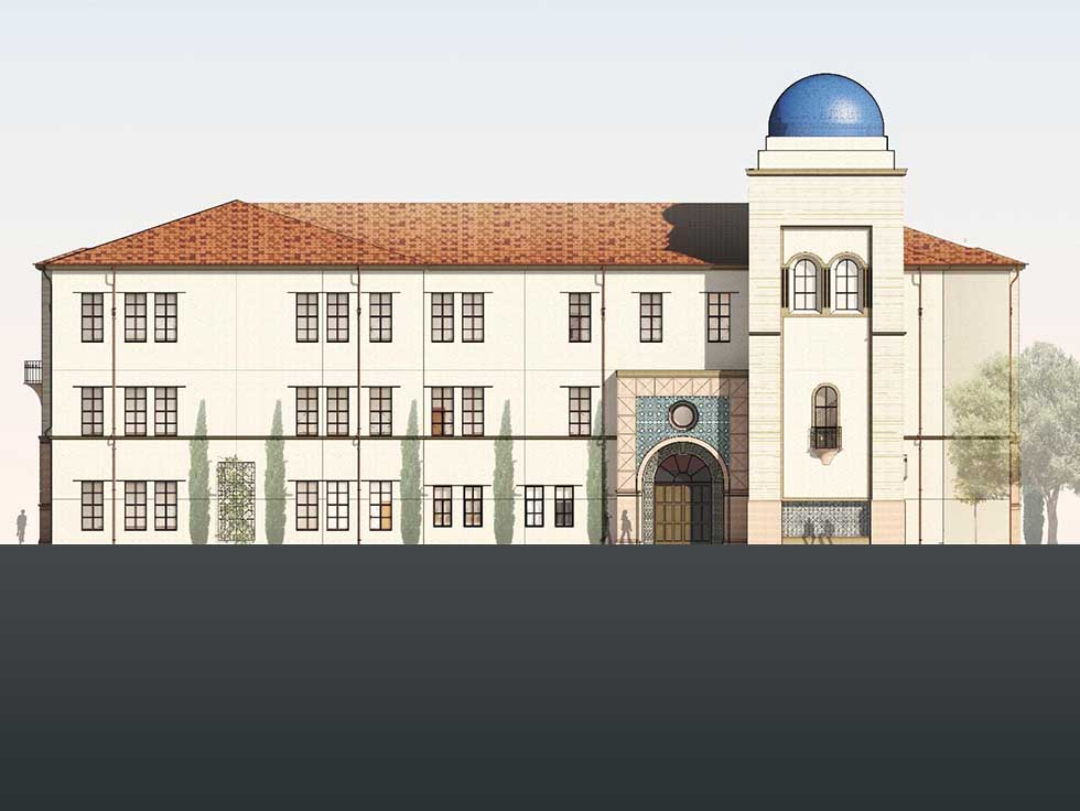 Concept art detailing the new Humanities building due to be built in 2020