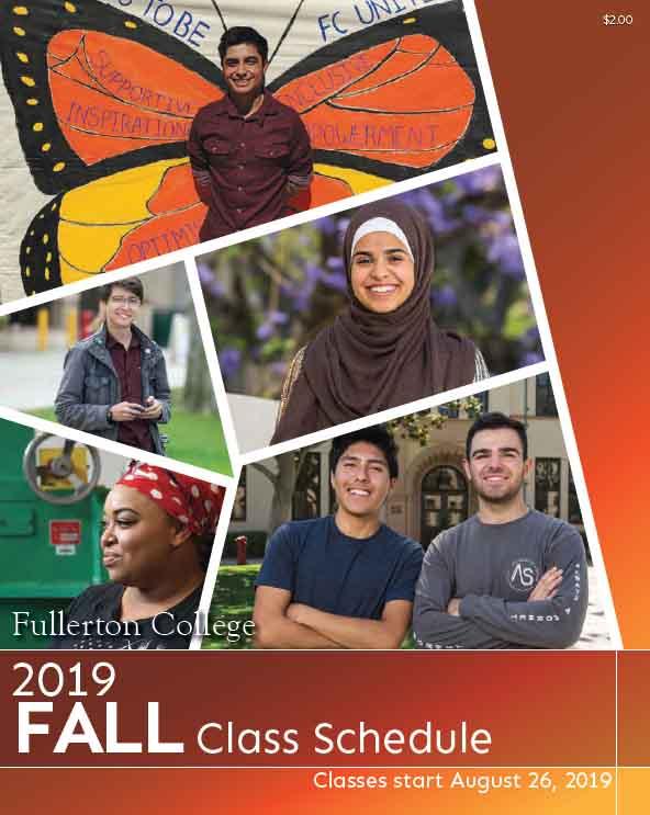 Fall Class Schedule Cover